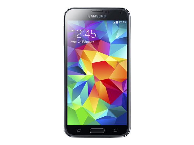 Image of Samsung Galaxy S5 - charcoal black - 4G LTE - 16 GB - GSM - Android smartphone