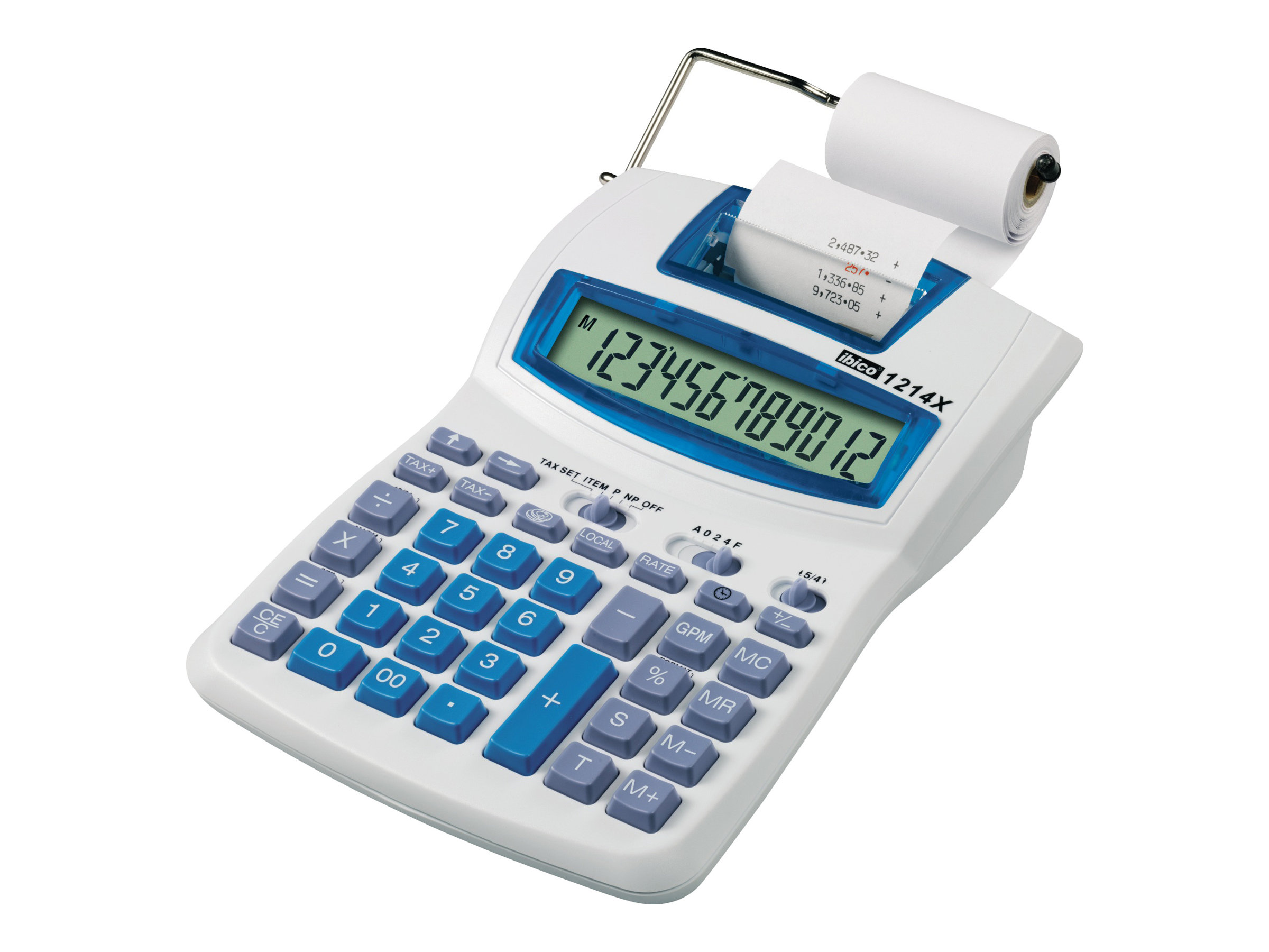 rexel ibico semi professional 1214x calculatrice avec imprimante calculatrices imprimante et. Black Bedroom Furniture Sets. Home Design Ideas