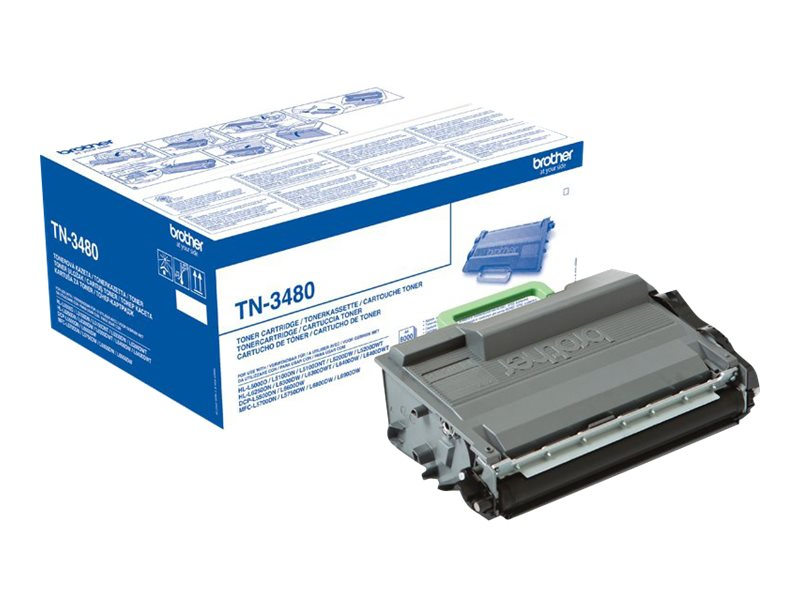 Brother TN3480 - à rendement élevé - originale - cartouche de toner