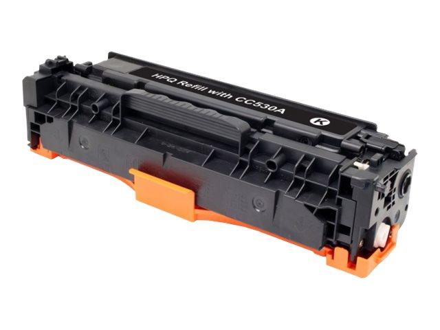 UPrint - noir - remanufacturé - cartouche de toner (alternative for: HP CC530A, Canon EP-718)