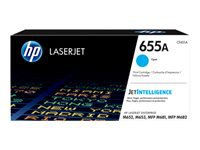 HP 655A - Cyan - original - LaserJet - toner cartridge (CF451A) - for Color LaserJet Enterprise M652, M653; LaserJet Enterprise Flow MFP M681, MFP M682