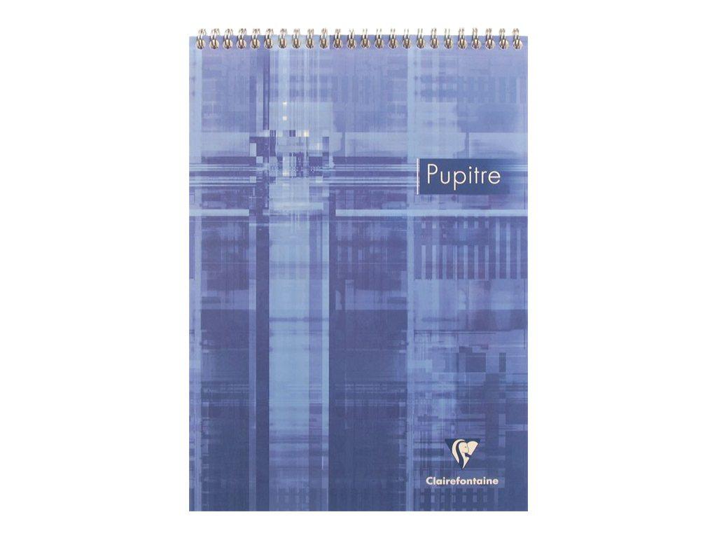 Clairefontaine - Bloc-notes - A4 - 160 pages - papier blanc - Seyès - Grands carreaux - disponible dans différentes couleurs