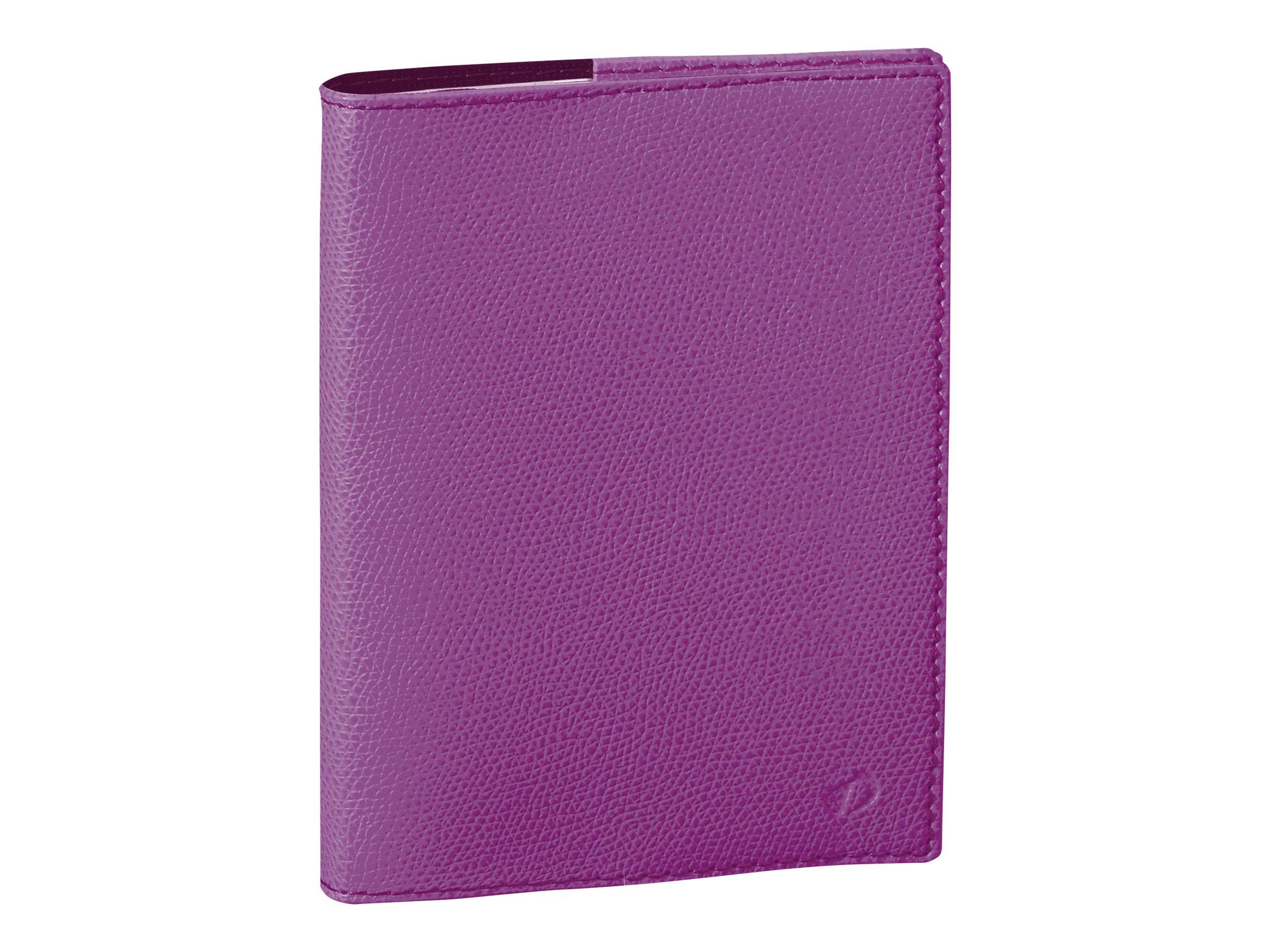 Quo Vadis Agenda Club - Agenda - 1 jour par page - 120 x 170 mm - papier blanc - couverture iris violet - toile