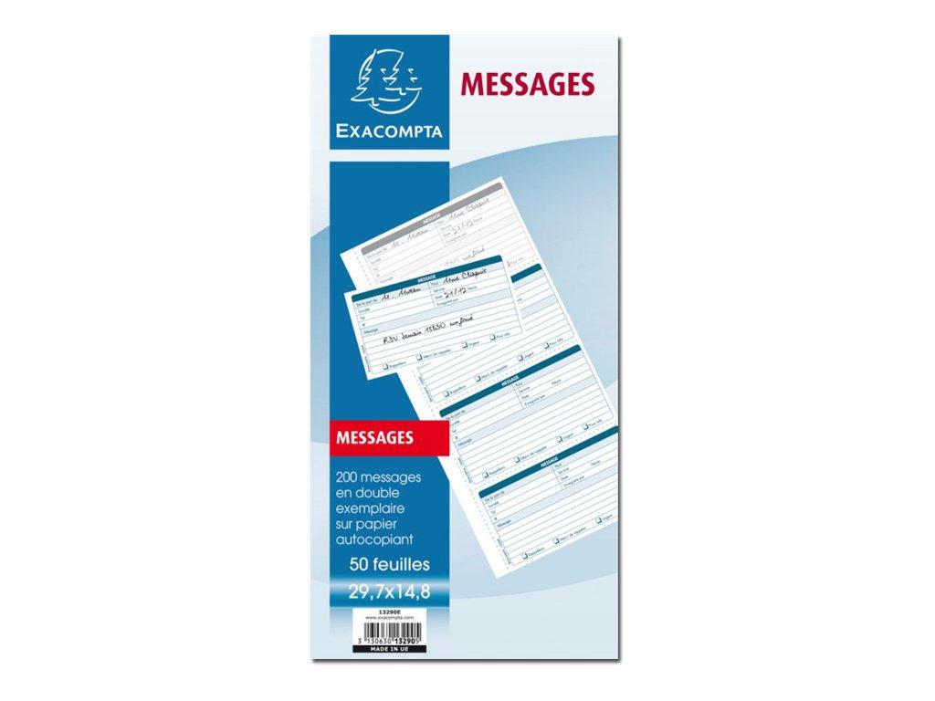 Exacompta - formulaire de prise de messages