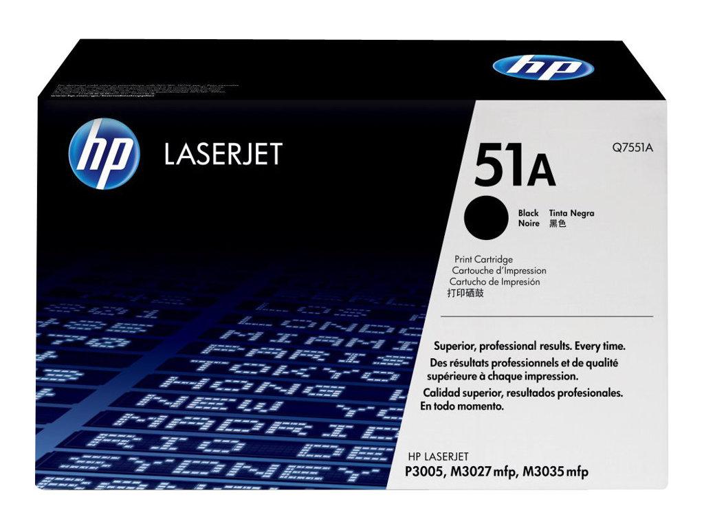HP 51A - noir - originale - LaserJet - cartouche de toner (Q7551A)