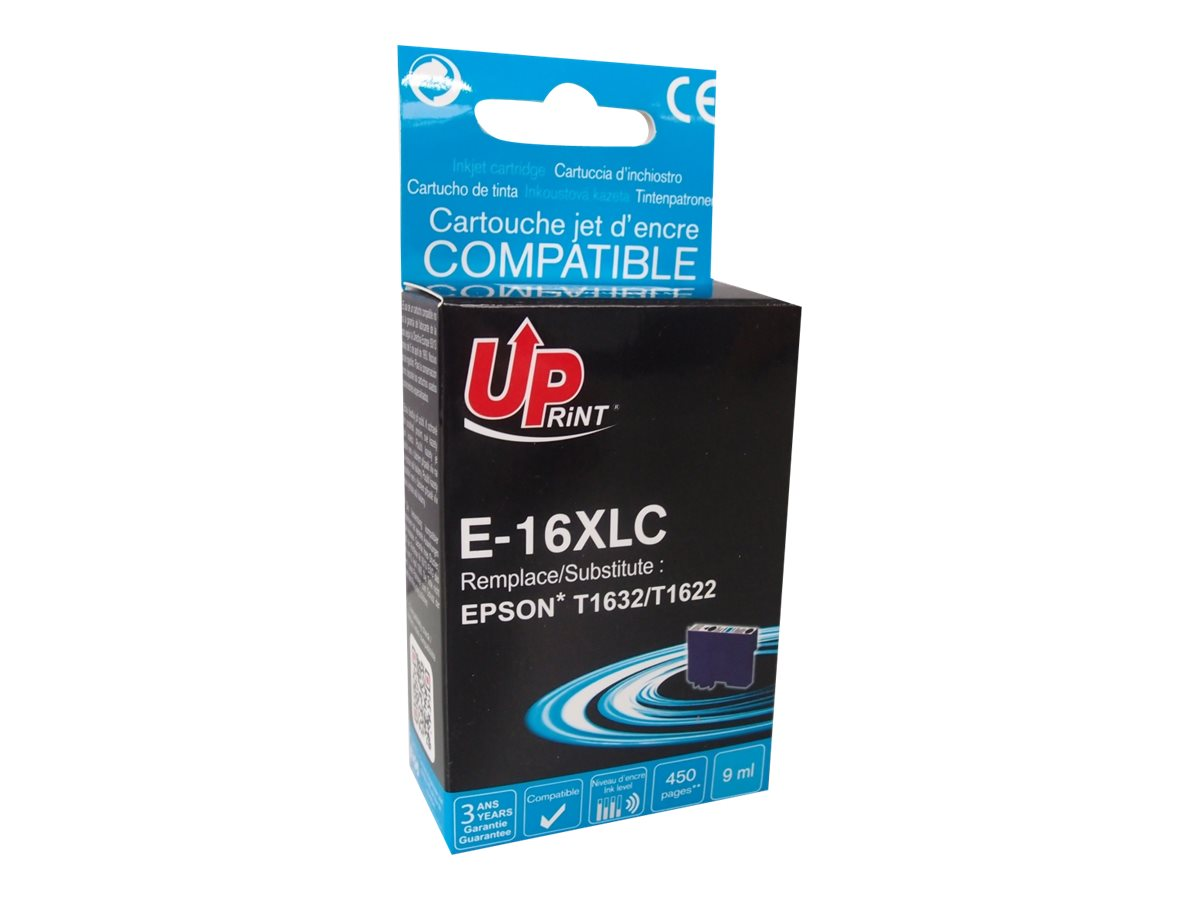 UPrint E - stylo plume - T16XLC - cyan - cartouche d'encre (équivalent à : Epson T1632, Epson T1622)