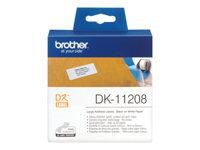 Brother DK-11208 Sort på hvid 400) adresseetiketter
