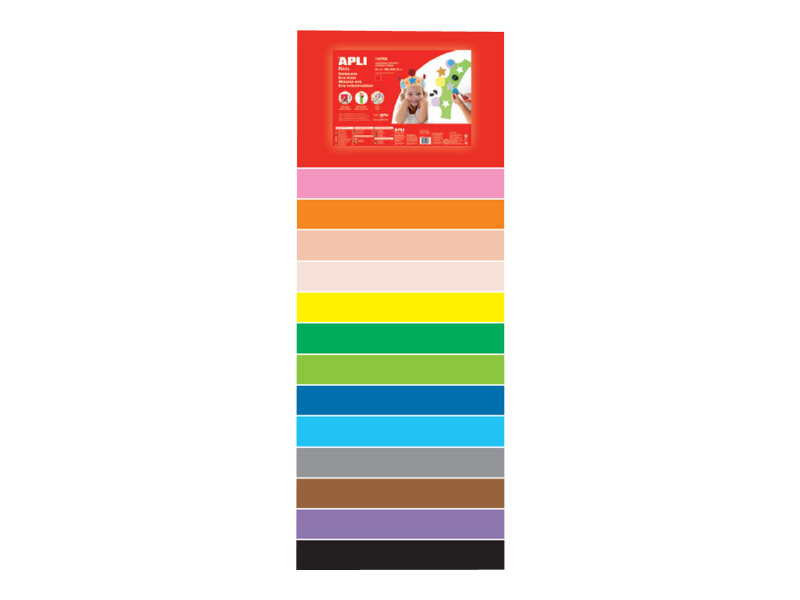 Apli Agipa - 10 Cartons mousse - 600 x 400 mm - couleurs assorties