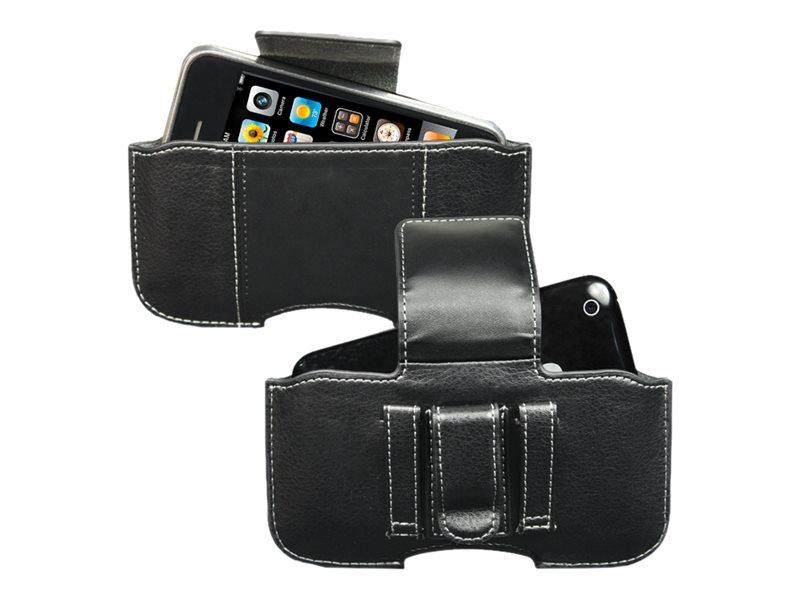Muvit Universal Horizontal Belt Clip Passing Black Size L - sac étui pour téléphone portable
