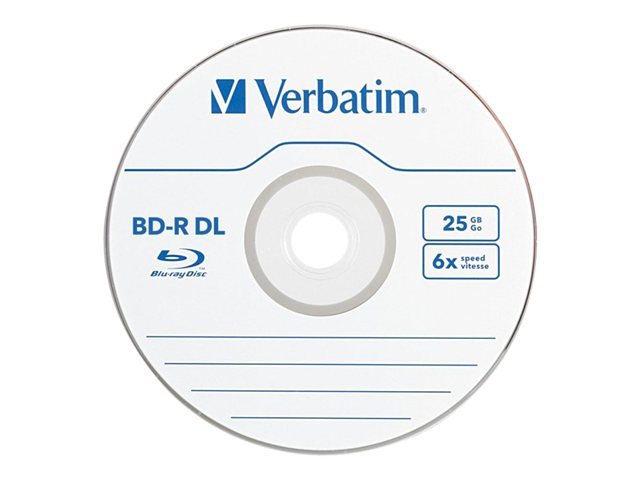 Verbatim 3Pk Bd-R Dl 50Gb 6X Branded Jc
