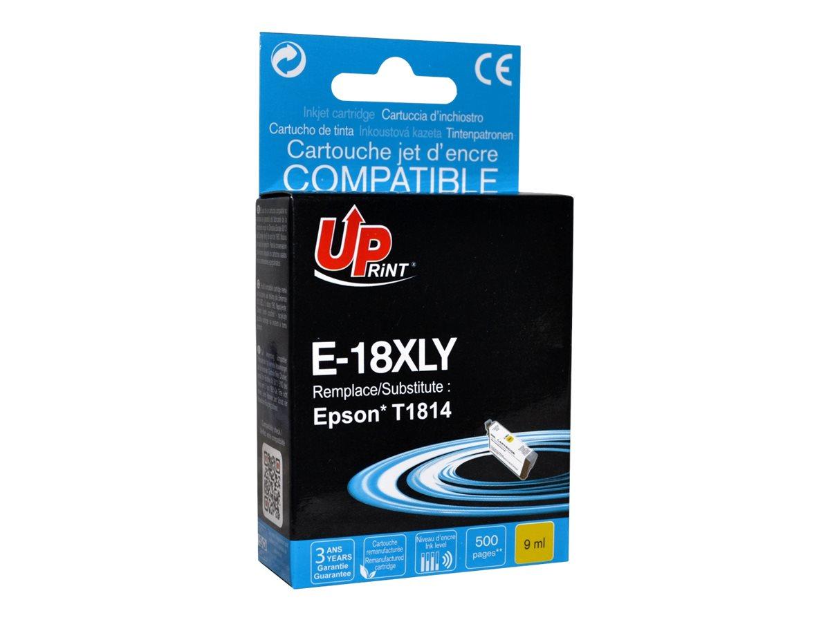 UPrint E-18XLY - jaune - remanufacturé - cartouche d'encre (équivalent à : Epson T1814, Epson T1804 )