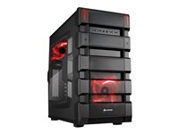 SHARKOON, BD28 Red Edtion / black / ATX