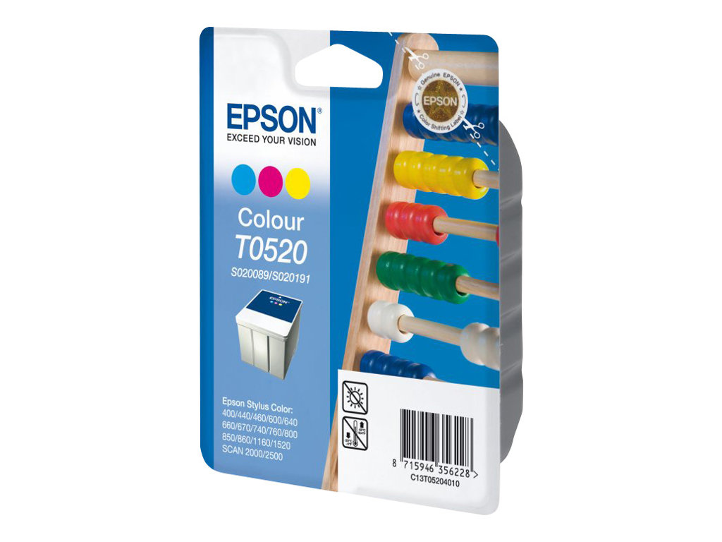 Epson T052 - couleur (cyan, magenta, jaune) - originale - cartouche d'encre