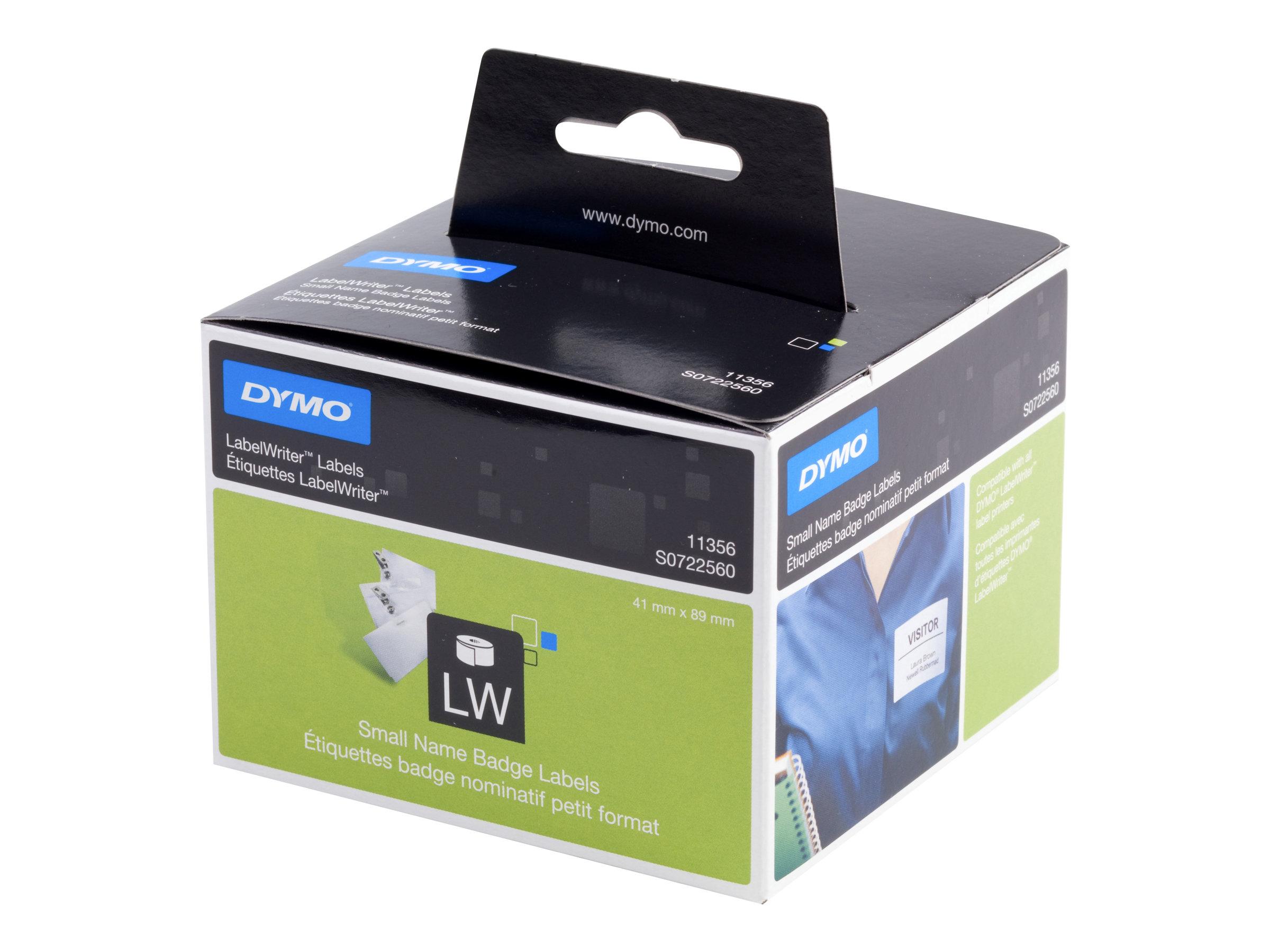 DYMO LabelWriter - 300 Étiquettes pour badges - blanc - 89 x 41 mm
