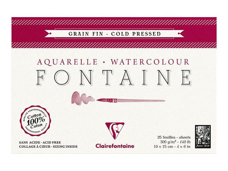 Clairefontaine Fontaine - Bloc à dessins - 10 x 15 cm - 25 feuilles - blanc