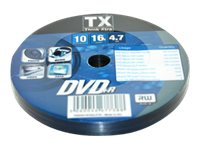 TX - DVD+R x 10 - 4.7 Go - support de stockage