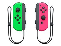 NINTENDO Joy-Con(Left & Right) - Gamepad - wireless - neon green, neon pink (pack of 2) - for Nintendo Switch