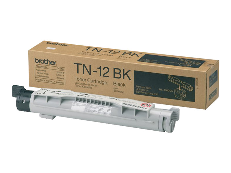 Brother TN12BK - noir - original - cartouche de toner