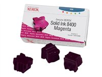 XEROX - GENUINE SUPPLIES Tintas sólidas - 3 x magenta - 3.400 páginas - Para Phaser 8400108R00606