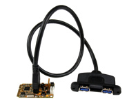 StarTech.com Carte Controleur Mini PCI Express 2 ports USB 3.0 avec Support UASP et Kit de Supports - 2x USB 3.0 à Femelle