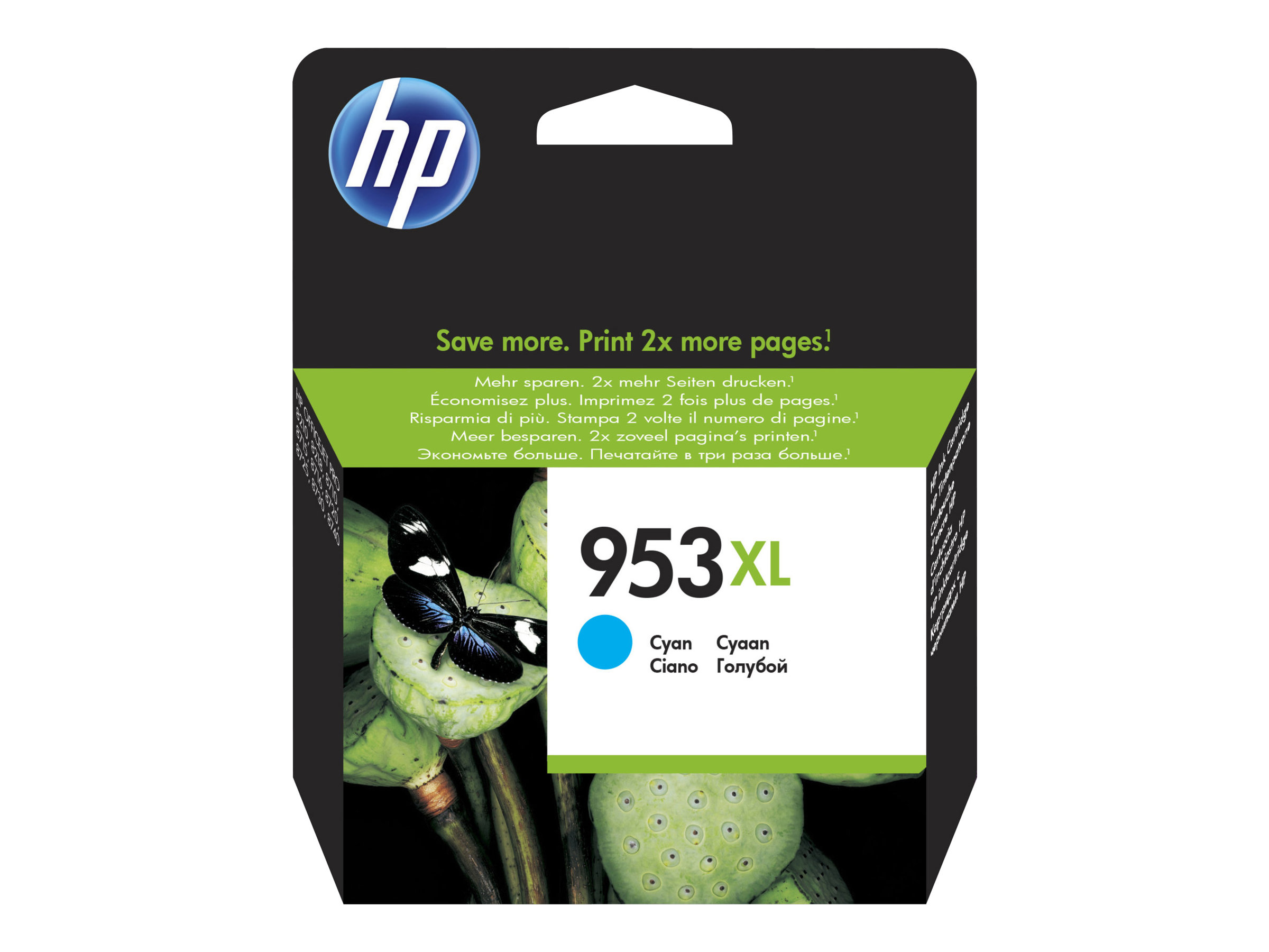 HP 953XL - à rendement élevé - cyan - originale - cartouche d'encre