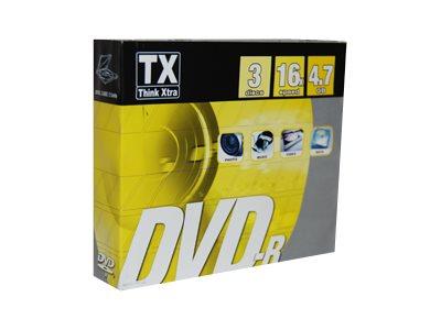 TX - DVD-R x 3 - 4.7 Go - support de stockage