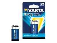 Varta High Energy batterie - 9V - Alcaline