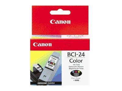 Canon BCI-24C - jaune, cyan, magenta - originale - cartouche d'encre