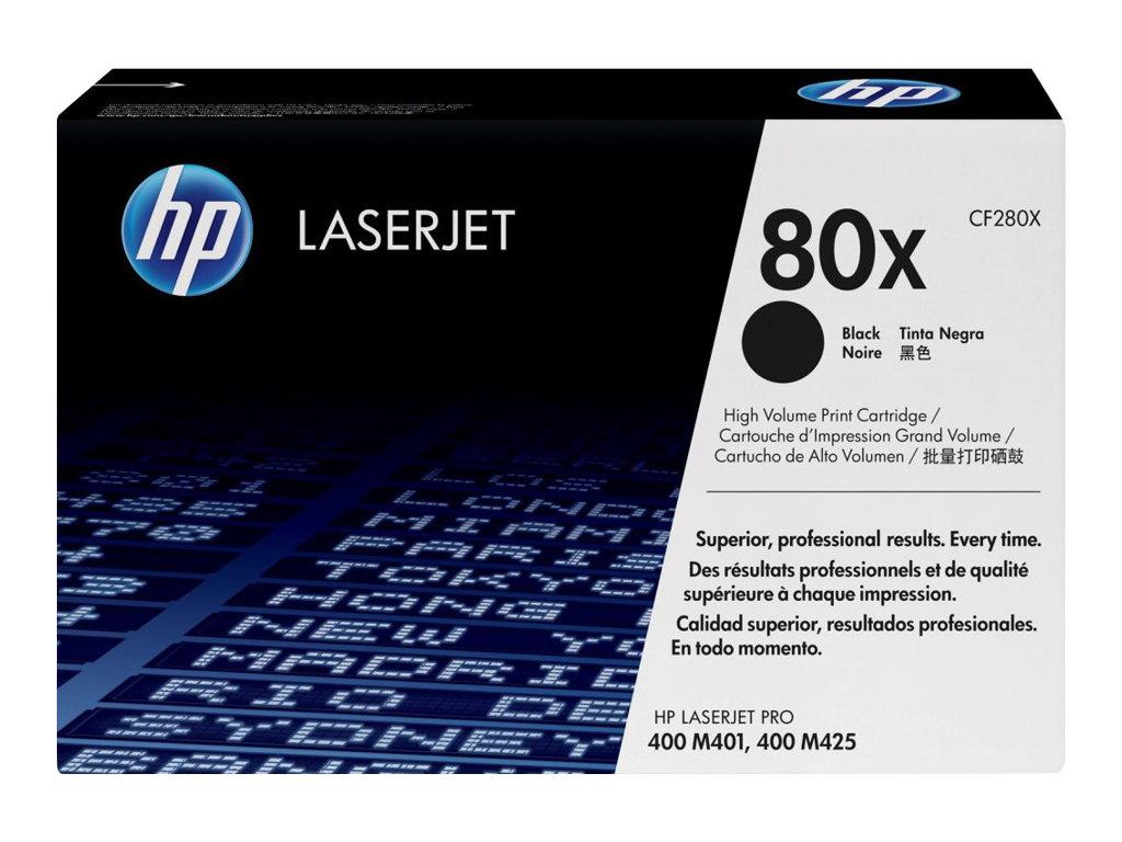 HP 80x - à rendement élevé - noir - original - LaserJet - cartouche de toner ( CF280X )