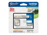 Brother TZe - Standard adhesive - gold on satin silver - Roll (0.47 in x 16.4 ft) 1 roll(s) laminated tape - for Brother PT-D210, D600, H110; P-Touch PT-D450, D800, H110, P300, P900, P950