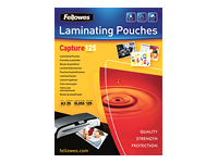 Fellowes Laminating Pouches 125 micron 25 klar blank