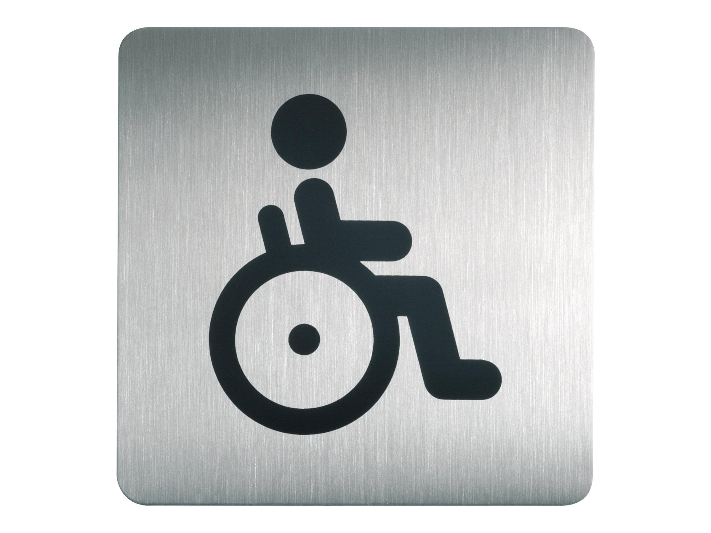 DURABLE PICTO - Pictogramme - toilettes pour personnes handicapées - 150 x 150 mm