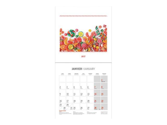 CBG Friandises - Calendrier illustré - 2017 - mois par page - 300 x 600 mm