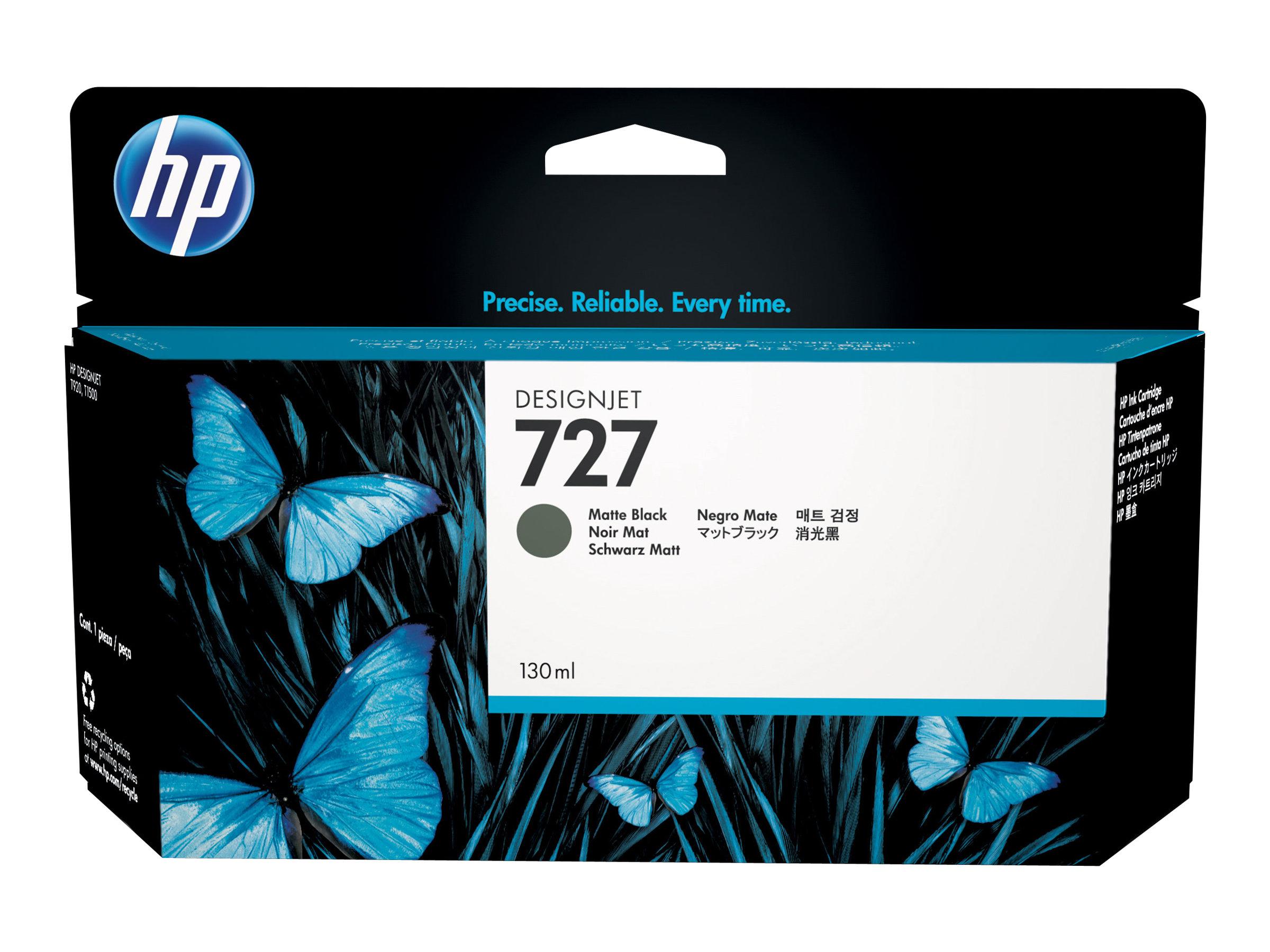 HP 727 xl - 130 ml - noir mat - originale - cartouche d'encre