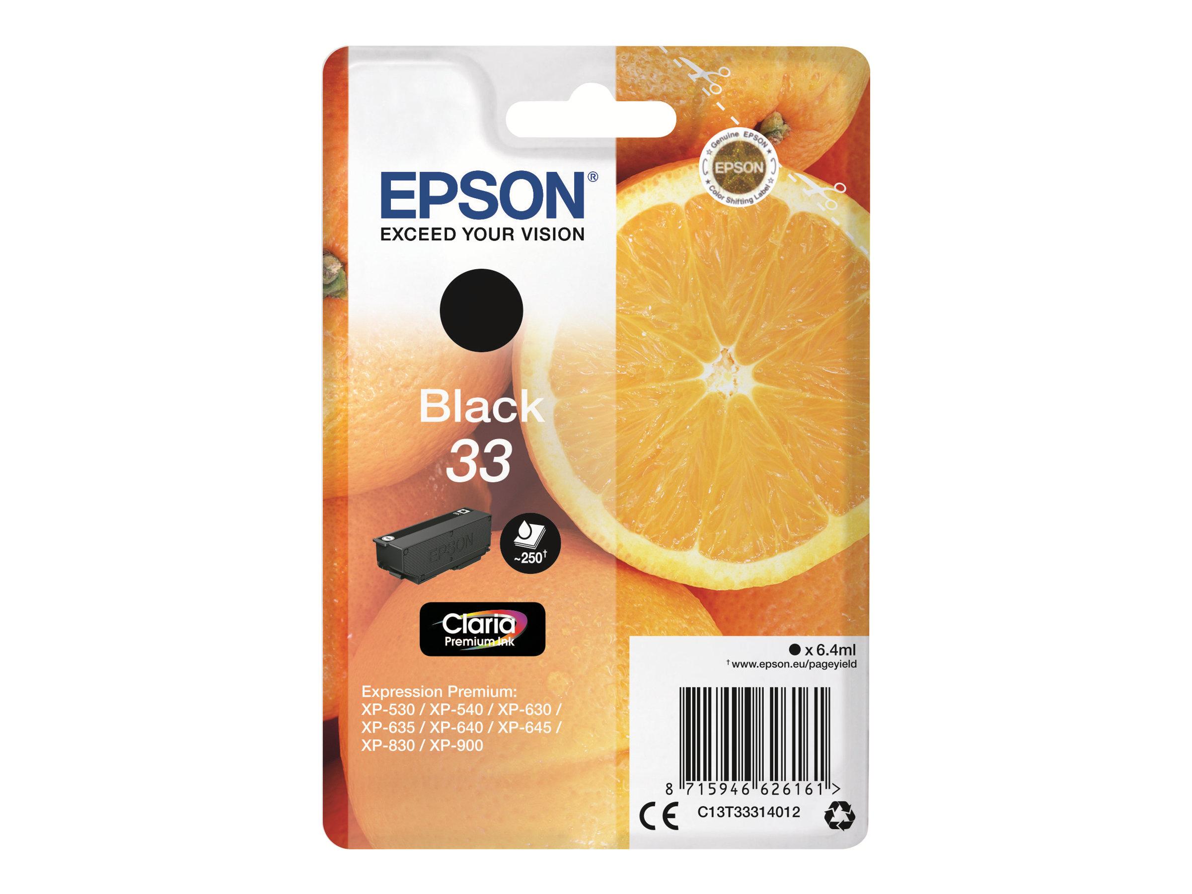 Epson T33 Orange - noire - originale - cartouche d'encre