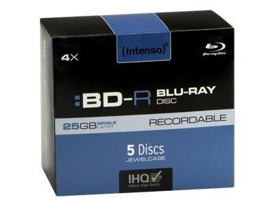 Intenso - BD-R x 5 - 25 GB - soportes de almacenamiento