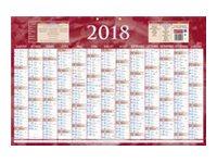 CBG rouge 228 - Calendrier janvier 2017 - janvier 2018 - visualisation de 13 mois - 430 x 650 mm