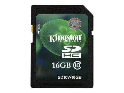 Kingston - tarjeta de memoria flash - 16 GB - SDHC