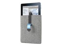 Dicota PadCover Beskyttelsesomslag til tablet læder, akryl grå, blå