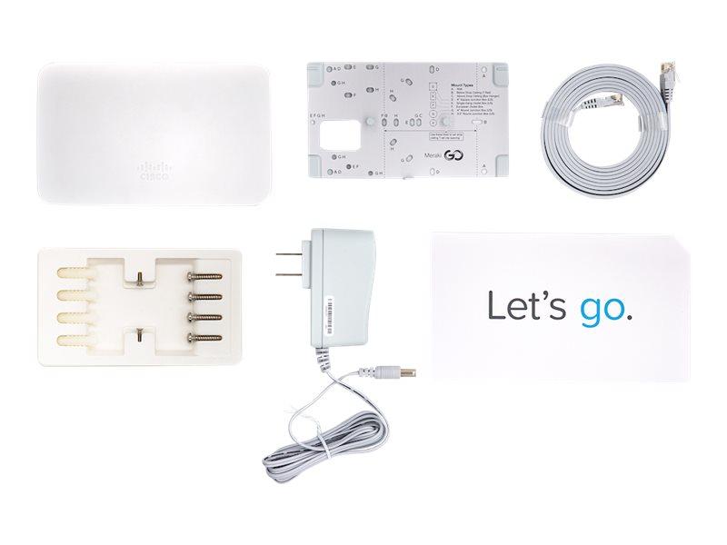 Image de Cisco Meraki Go GR10 - Borne d'accès sans fil - 802.11ac Wave 2 - Wi-Fi 5 - 2.4 GHz, 5 GHz - alimentation CC - montage mural