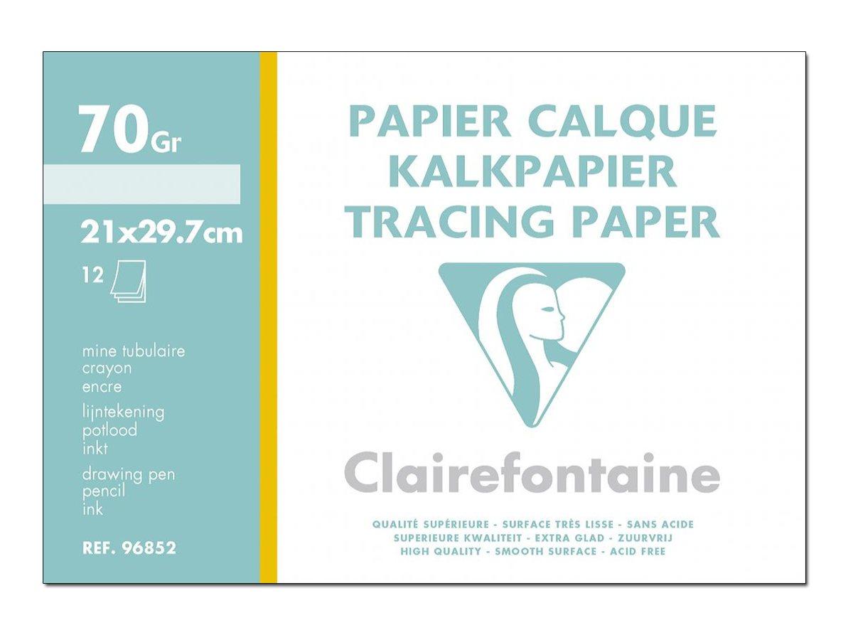Clairefontaine Fine Arts - Papier- calque - A4 - 12 feuilles - 70 g/m²