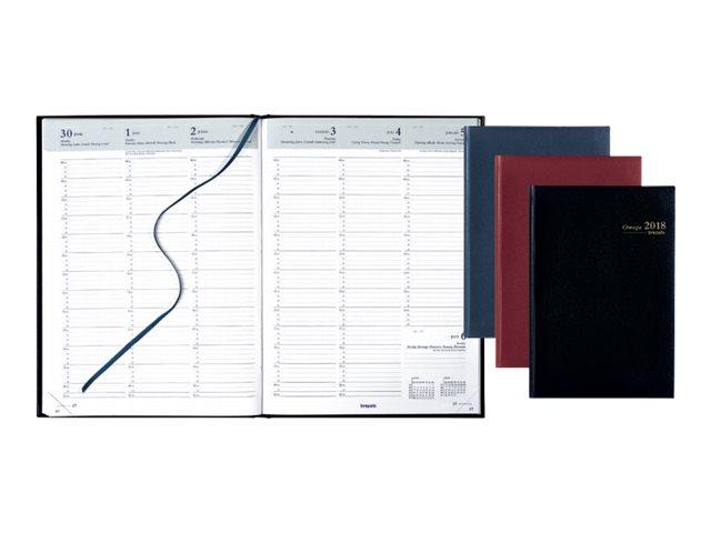 Brepols Lima Omega - Agenda - semainier - 210 x 290 mm - disponible dans différentes couleurs