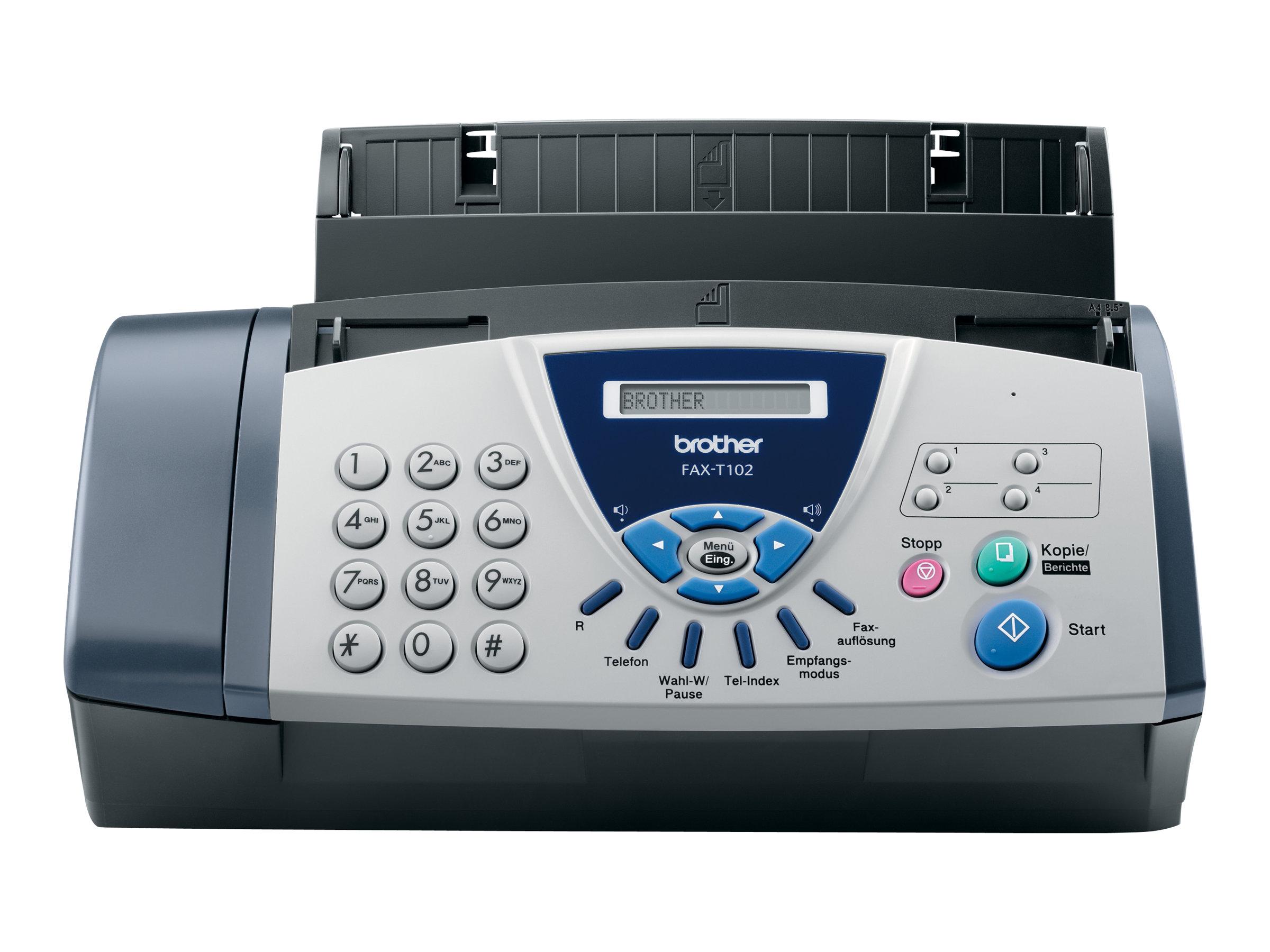 brother fax t102 t l copieur photocopieuse noir et blanc fax. Black Bedroom Furniture Sets. Home Design Ideas