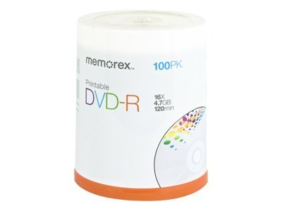 Imation (3M) Memorex 05642 DVD Recordable Media - DVD-R - 16x - 4.70 GB - 100 Pack Spindle - Imation (3M) - 05642 at Sears.com