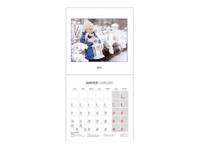 CBG Souvenirs d'enfants - Calendrier illustré - 2017 - mois par page - 300 x 600 mm