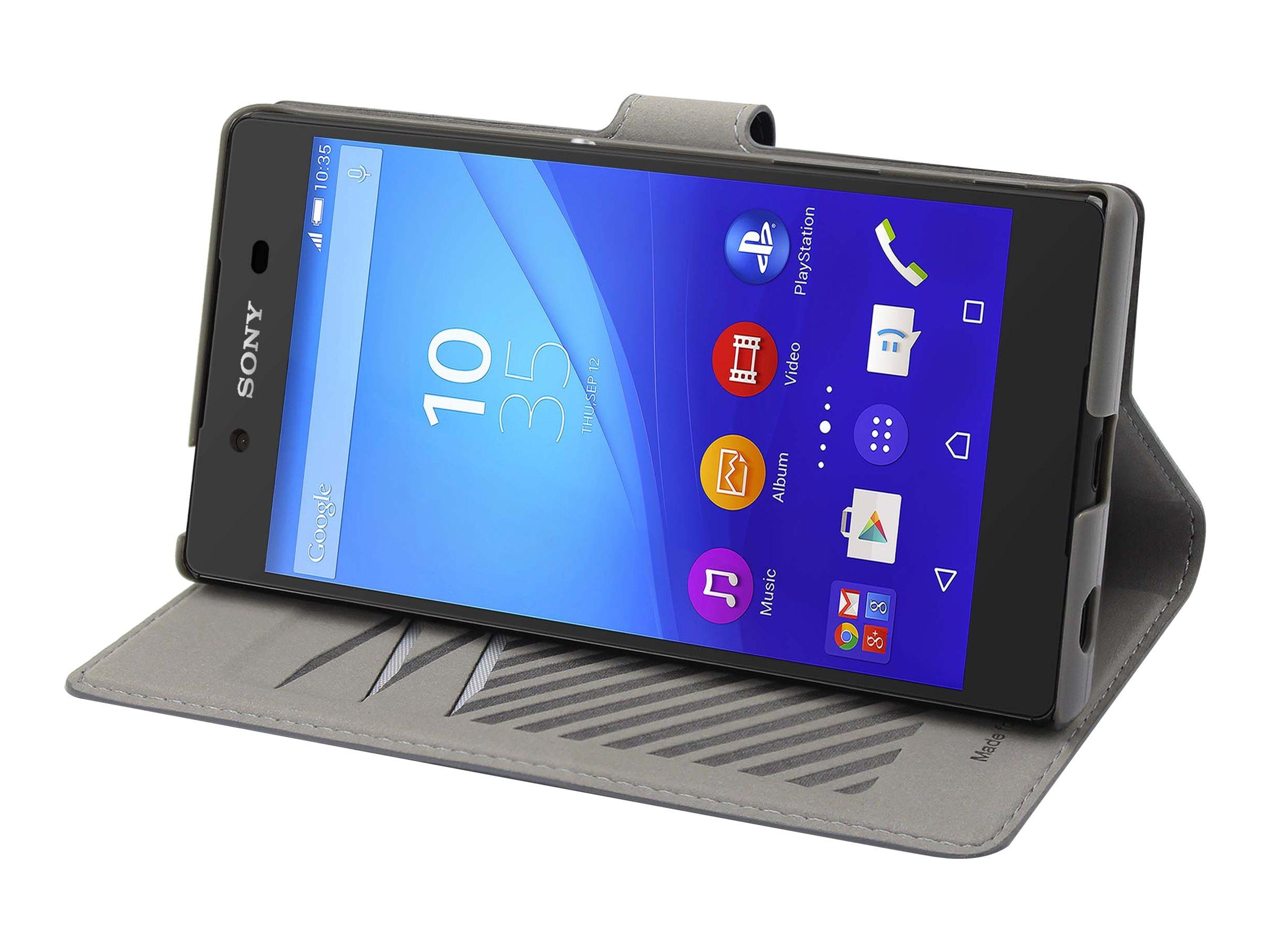 Muvit MFX slim s folio - Protection à rabat pour Sony XPERIA Z5 - gris