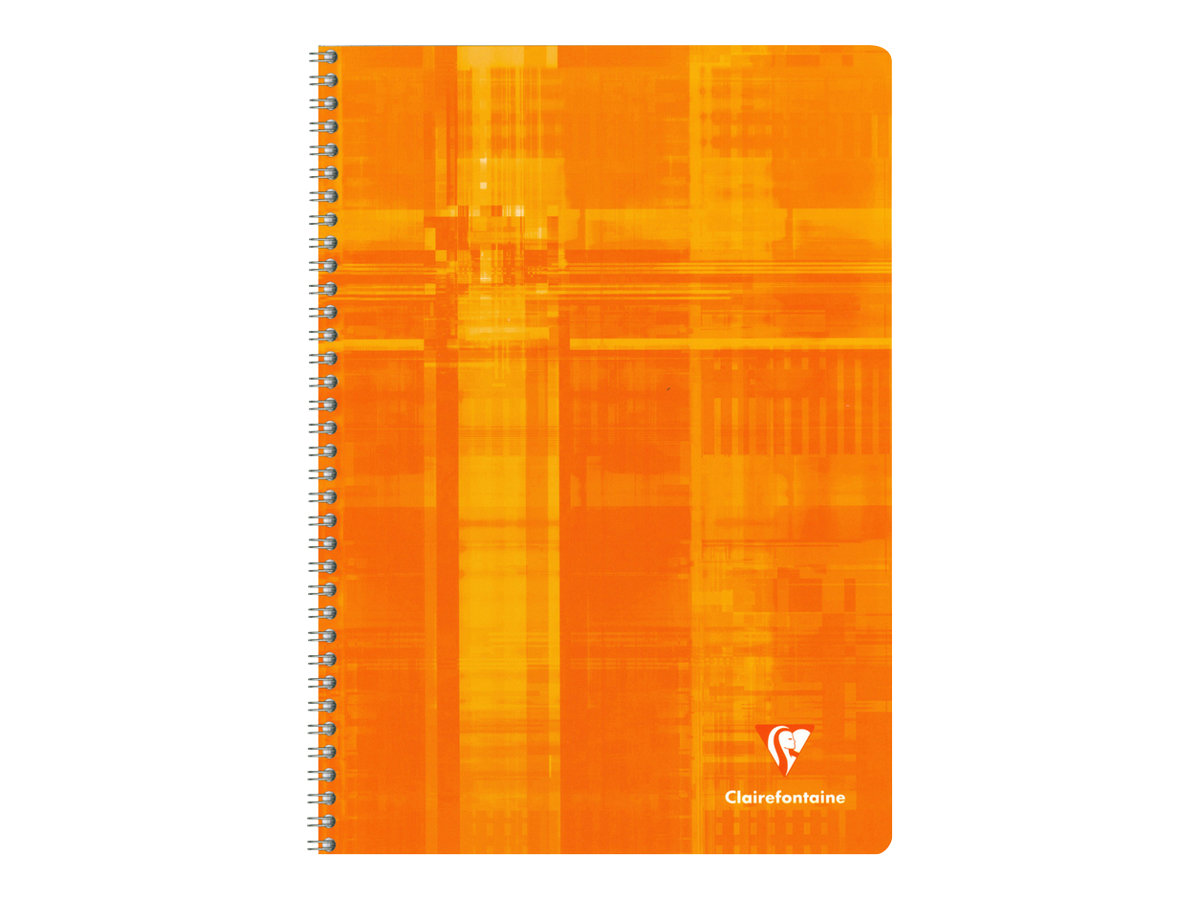 Clairefontaine - Cahier spirale - A4 - 100 pages - Grands carreaux - couvertures aux couleurs assorties