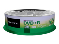 Sony 25DPR47SP - DVD+R x 25 - 4.7 Go - support de stockage