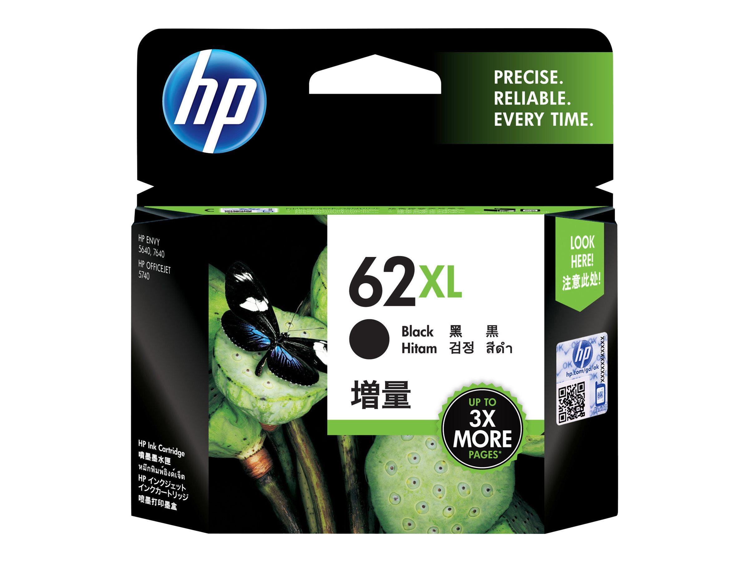 HP 62XL - 12 ML - ALTO RENDIMIENTO - NEGRO - ORIGI