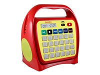 Ergoguys Juke24 - Portable karaoke - 4 GB - yellow, red